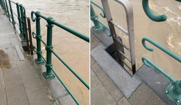 Le niveau de la Meuse a légèrement baissé à Liège.