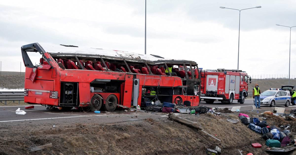 Zes Oekraïense gastarbeiders omgekomen bij busongeluk in Polen.