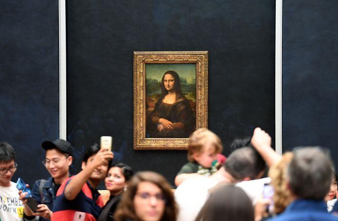 De echte 'Mona Lisa' hangt in museum Het Louvre in Parijs.