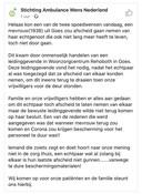 De - inmiddels verwijderde - Facebookpost van Stichting Ambulance Wens Nederland.