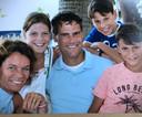 De familie Baten. Van links naar rechts: Inge, Jasmijn, Remco, Jasper en Pepijn