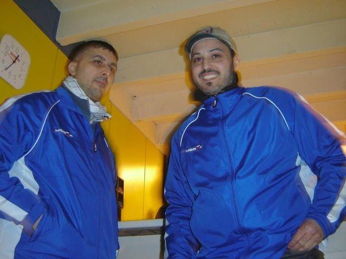 Soliman Chahid (links) en Abdul Hajjami (rechts) in het Marokkaanse ontmoetingscentrum bij De Bunthoef. foto Nicole Andries