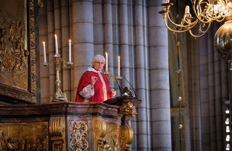 De Zweedse aartsbisschop Antje Jackelén: 'Had ik niet Antje maar Anton geheten, dan had ik allerlei zure reacties zeker niet gekregen.' Beeld Magnus Aronson