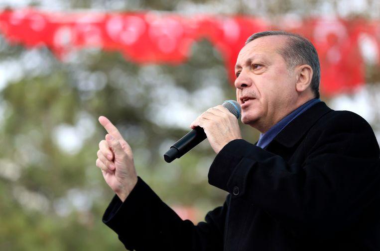 Turks president Recep Tayyip Erdogan. Beeld AP