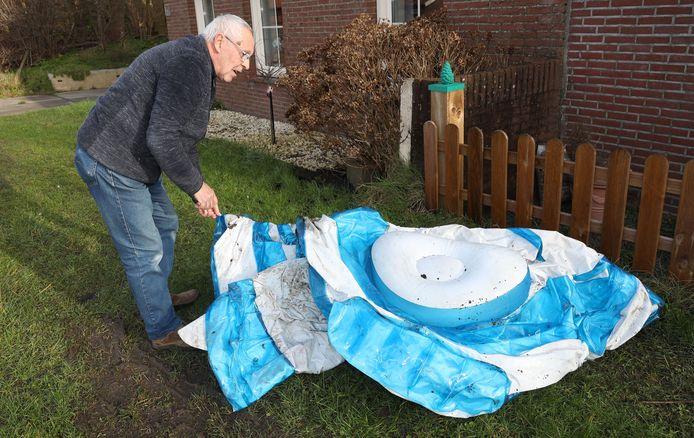 Han Schinnen vond een zwembad in zijn tuin