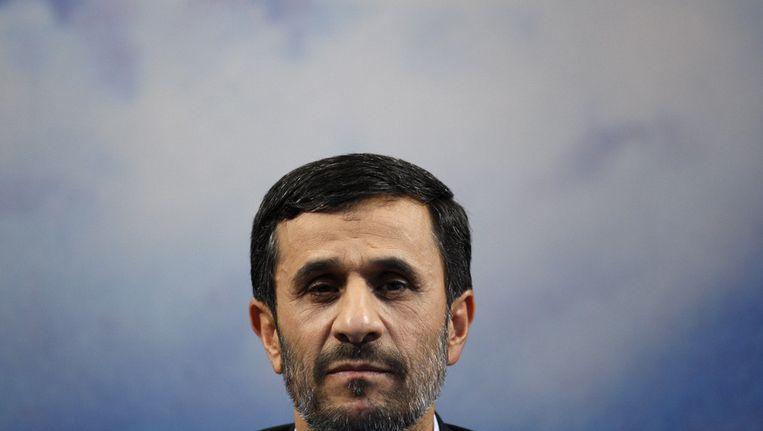 President Ahmadinejad. Beeld ap