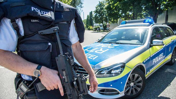 Een Duitse politieagent (archieffoto).