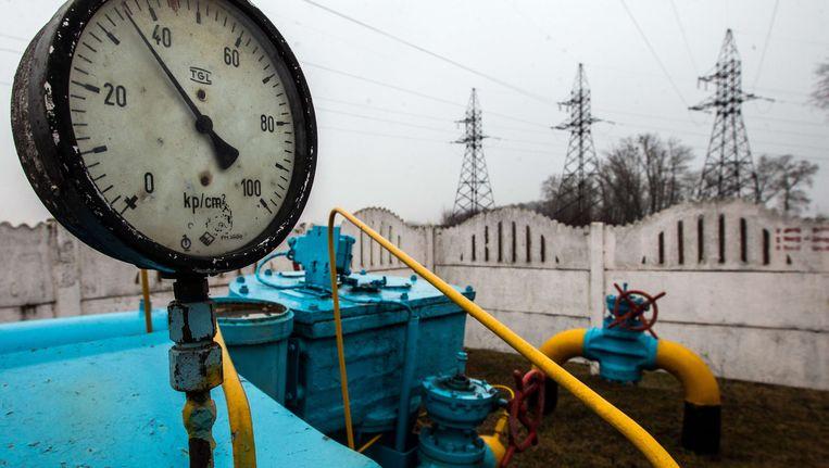 Een gasstation in de buurt van Kiev.