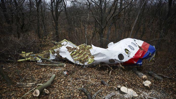 Een deel van de neergestorte MH17