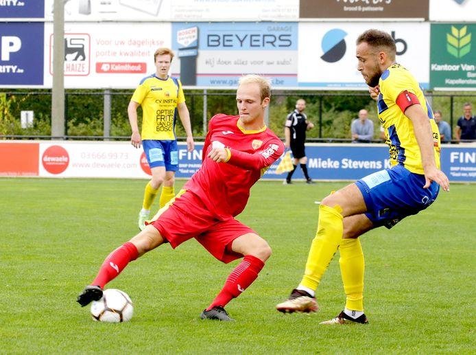 Olivier Somers (rechts) won ook vorig week al met Ternesse op bezoek bij het Kalmthout van Zeno Adriaenssens (in het rood).