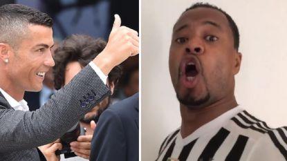 Zó verwelkom je Ronaldo: knotsgekke Evra waant zich operazanger en is een flinke marteling voor de lachspieren