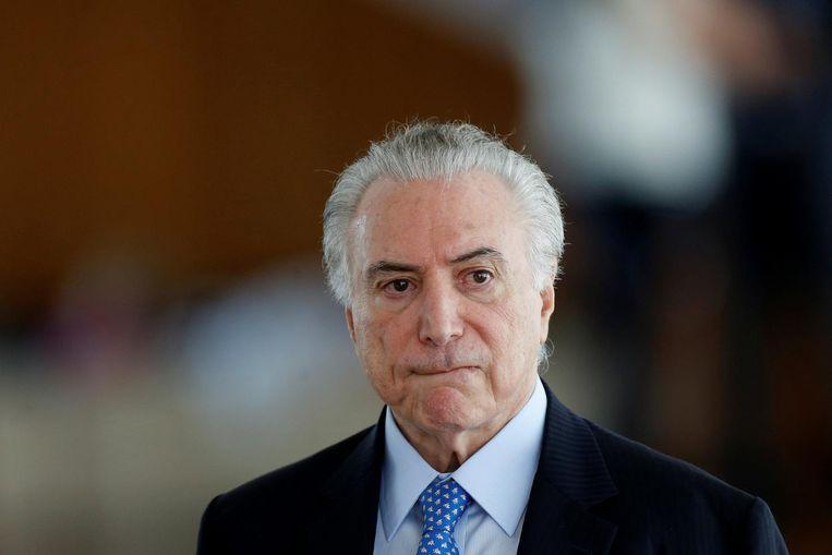 Michel Temer, president van Brazilië. Beeld Reuters