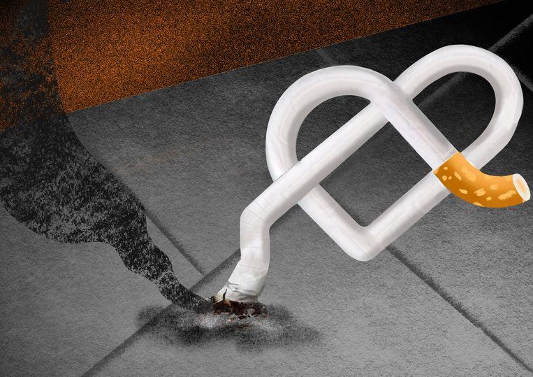 Door allerlei maatregelen te nemen waardoor kinderen niet beginnen met roken, kunnen op termijn 20.000 doden per jaar worden voorkomen.  Beeld Rosa Snijders