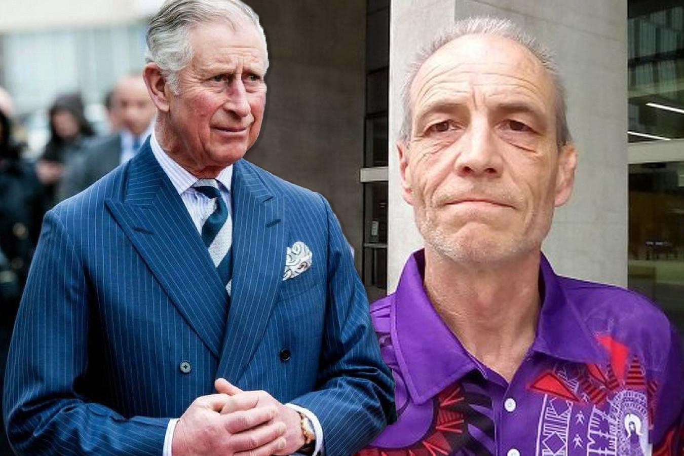 Simon Dorante-Day en zijn vermeende vader prins Charles