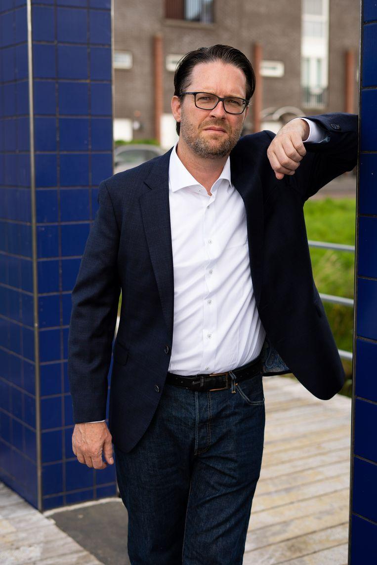 Jakob Wedemeijer is sinds 2018 namens de SP werkzaam als bestuurder van stadsdeel Zuidoost. Beeld Birgit Bijl