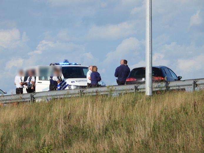 De inbrekers crashten met een Seat Leon op de afrit van de E403 in Torhout.