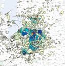 Inwoners uit talloze gemeenten in deze regio stuurden zienswijzen in op het luchthavenbesluit voor Lelystad Airport. Hoe donkerder de kleur, hoe meer zienswijzen. Uit Wezep (oranje) kwamen de meeste inzendingen. In totaal stuurden 9.362 mensen eerder dit jaar een zienswijze in.