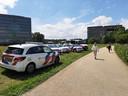 Politie massaal op de been bij de Wageningen universiteit vanwege de boeren.