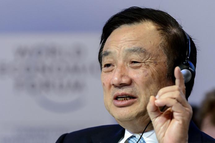 Ren Zhengfei, de CEO van het Chinese telecombedrijf Huawei.