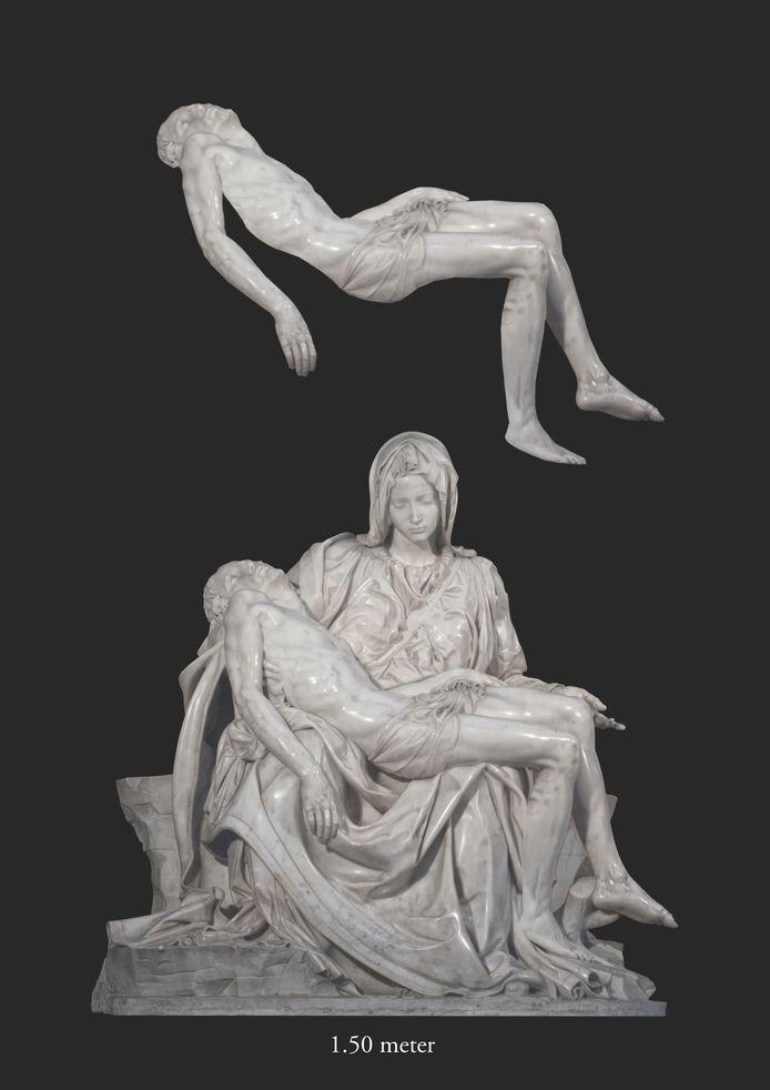 Kunstenaar Ignace Schretlen uit Rosmalen maakte dit kunstwerk voor Museum Krona in Uden.