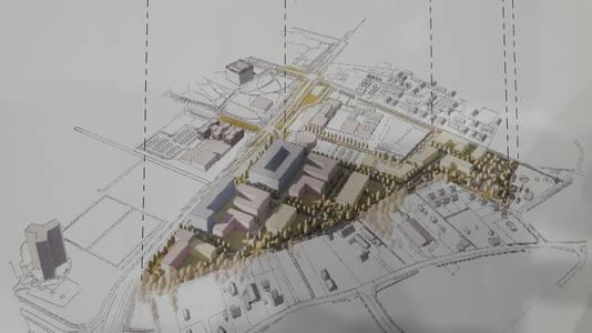 Nieuwbouwplan Born-Oost in Wageningen, pal ten oosten van de Campus.