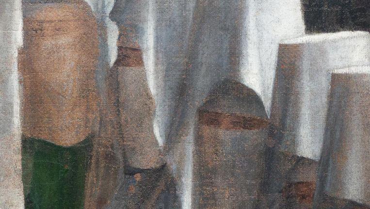 Detail van Sint Marcus prekend in Alexandrië Beeld Collectie Pinacoteca di Brera Milaan