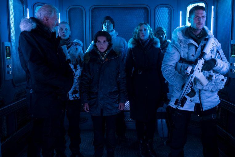 Millie Bobby Brown en Vera Farmiga in 'Godzilla: King of the Monsters'. Beeld RV