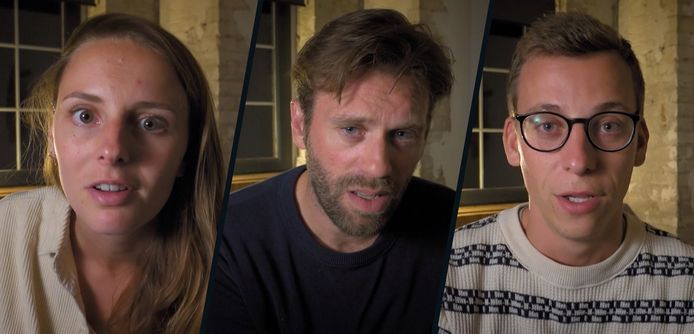 Finalisten Annelotte, Sven en Lennart.