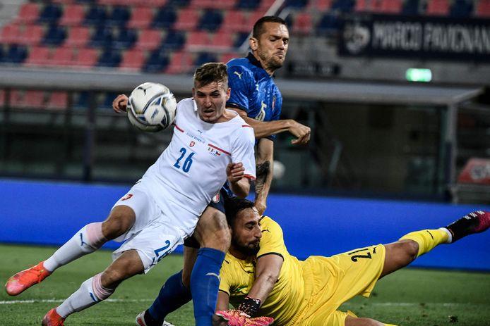 Michal Sadílek kreeg met Tsjechië een pofferd van Italië, maar debuteerde wel in het nationale team.