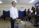 Premier Tsipras stemt in Athene