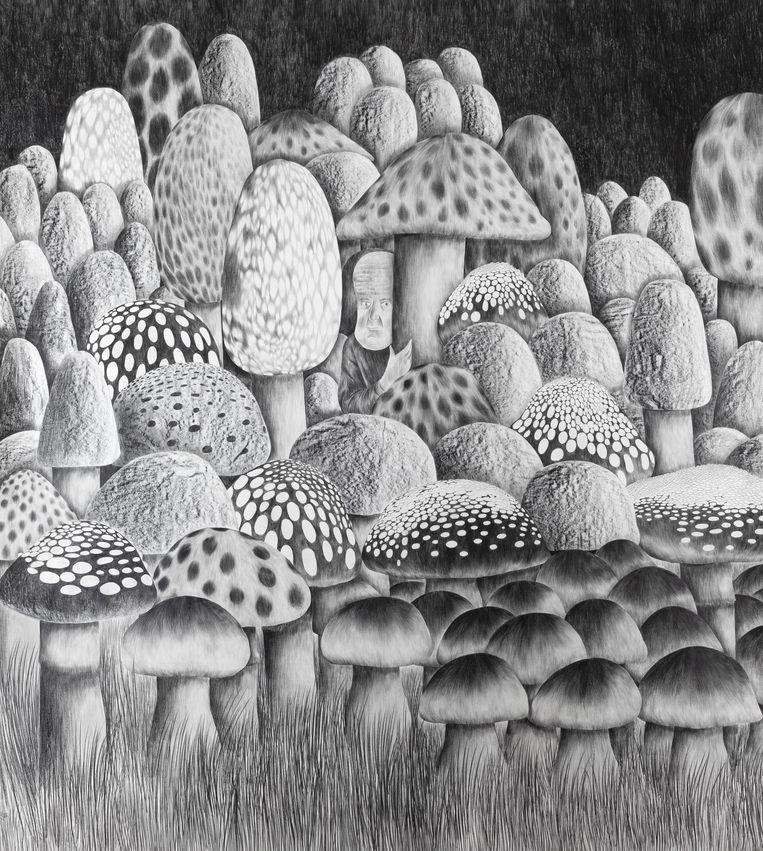 'A Kind Of Magic', 2021, 270 x 240 cm. Beeld DENNIS TYFUS