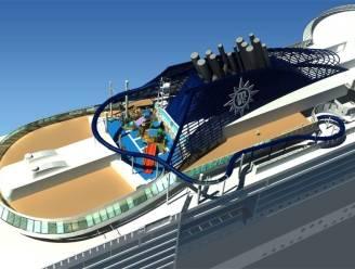 Cruiseschip pakt uit met langste waterglijbaan op zee