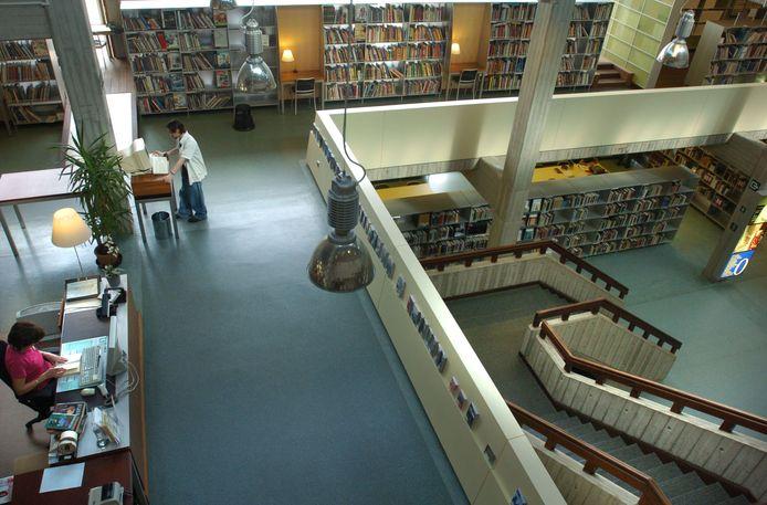 De bibliotheek in Hasselt.