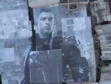 Une fresque de Cristiano Ronaldo réalisée sur les toits d'une favela de São Paulo