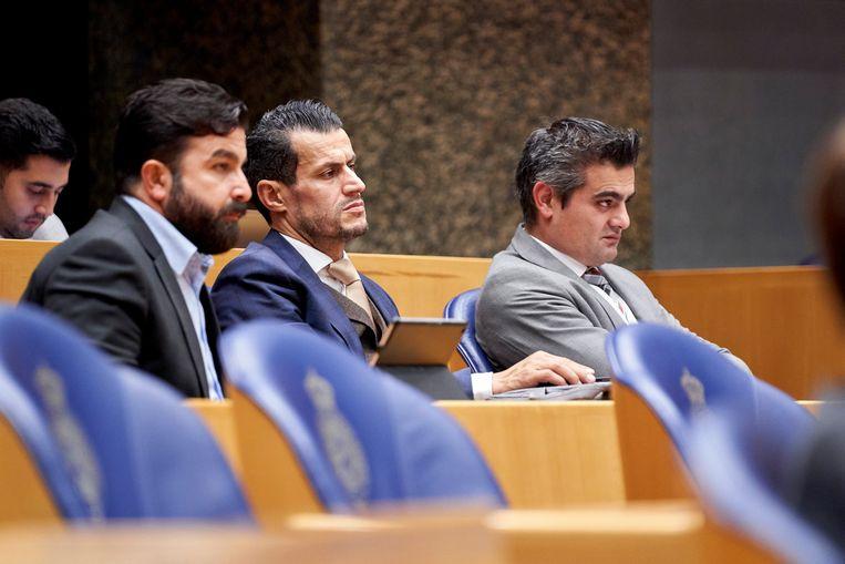 Selçuk Öztürk, Farid Azarkan en Tunahan Kuzu. Beeld ANP