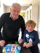 Frans Elfferich met kleinzoon Jack (afgelopen oktober)