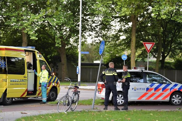 Het ongeluk gebeurde op de kruising van de Mascagnistraat en de Heikantlaan.