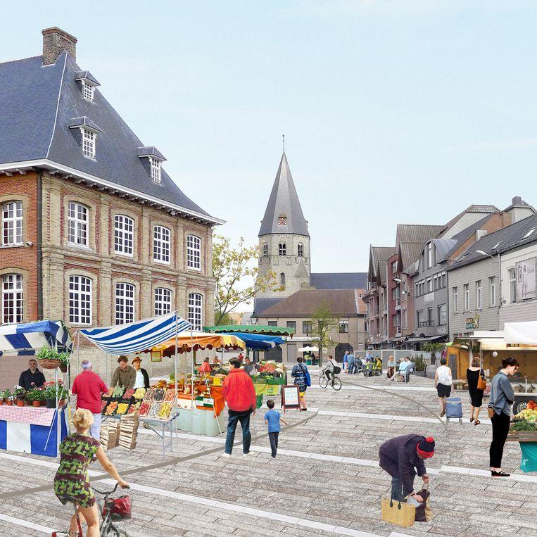 Zo zou Torhout er op een marktdag uitzien.