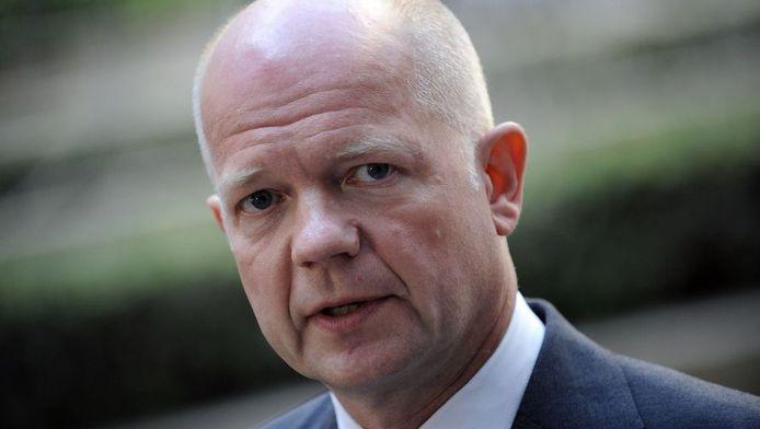 De Britse minister van Buitenlandse Zaken William Hague.