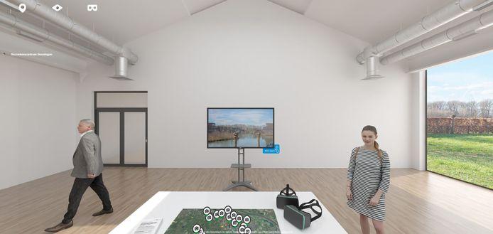 Het virtuele bezoekerscentrum van Windpark Beuningen.