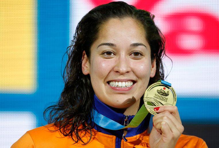 Ranomi Kromowidjojo wint de women's 50m Freestyle Final, Canada, december 2016. Beeld epa