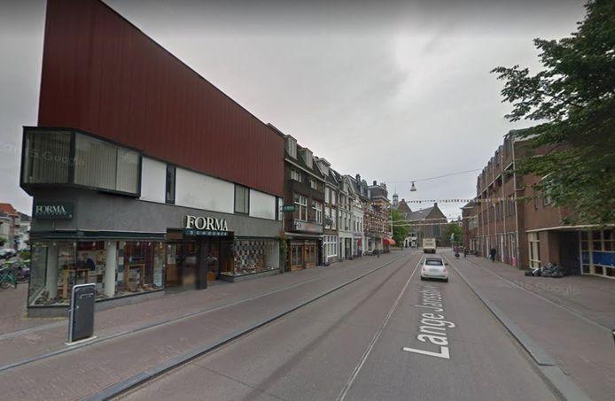 Het pand aan de Lange Jansstraat zoals het was.