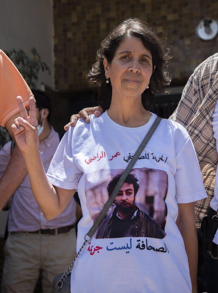 'Ondanks alle intimidatie hield Omar vol dat Marokko zijn land was', zegt moeder Fatiha Cherribi.  Beeld EPA
