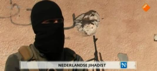 Youssef C. in een reportage die werd gemaakt over strijders in Syrië en in Nederland door Nieuwsuur werd uitgezonden.