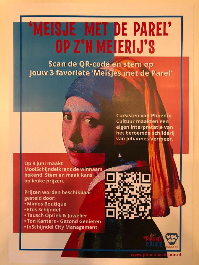 De expositie 'Meisje met de Parel op z'n Meierij's' is nu te zien in Schijndel.