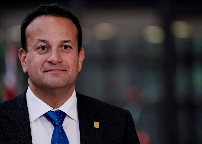 Iers premier Leo Varadkar hint op een Ierse hereniging.  Beeld AFP