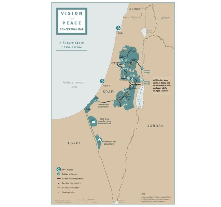De kaart laat de voorgestelde nieuwe staten zien.