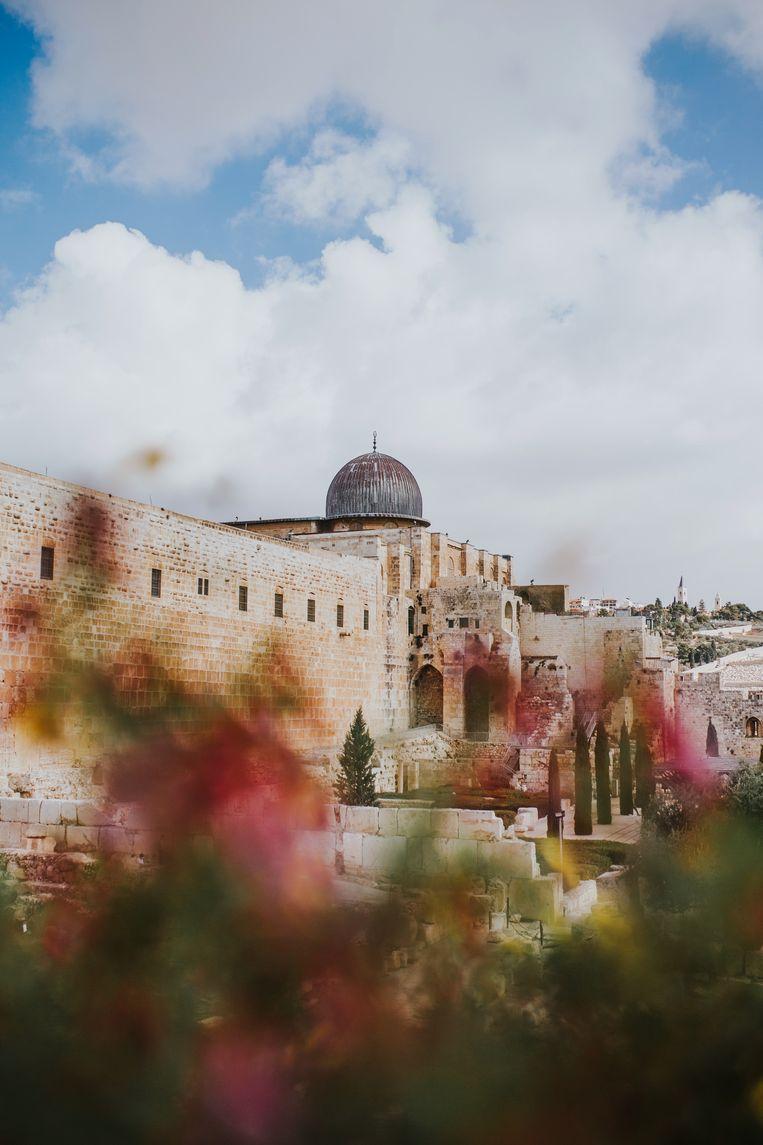 Foto ter illustratie van Jeruzalem.