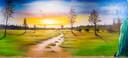 Het heidelandschap dat Elmer Tuinstra maakte werd de publieksfavoriet.