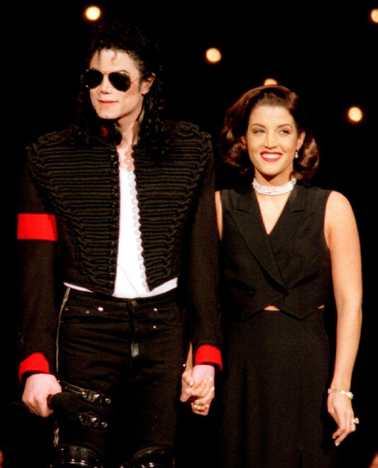 Michael Jackson en Lisa Marie Presley in 1994
